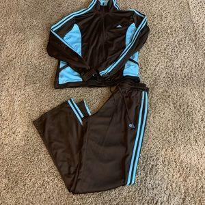 Adidas Brown striped Run DMC track suit hip hop Ml